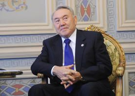 ISTANBUL, TURKEY. JUNE 8, 2010. President of Kazakhstan Nursultan Nazarbayev pictured at his bilateral meeting with the Russian Prime Minister during a summit-level Conference for Cooperation and Confidence-Building Measures in Asia, in Istanbul. (Photo I