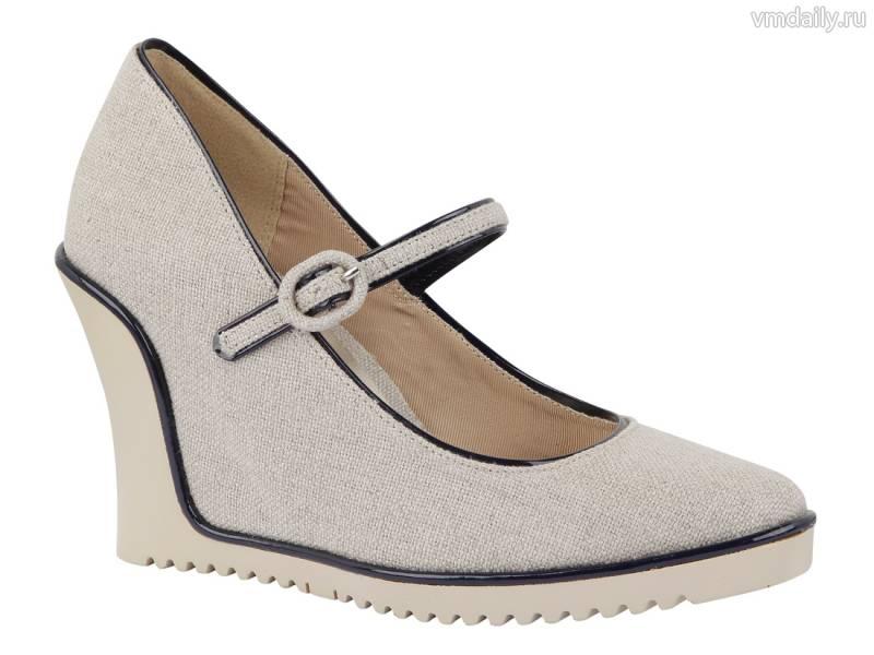 Туфли на низкой платформе