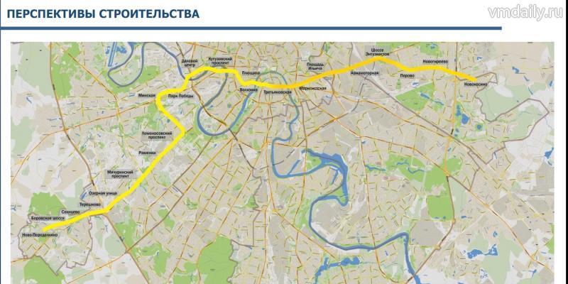 Схема метрополитена солнцевская линия