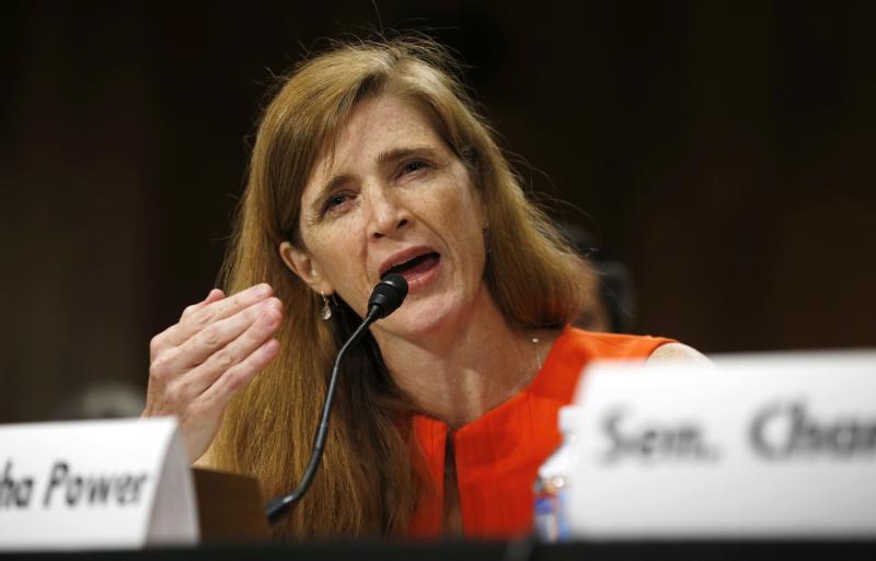 Саманта Пауэр постпред США при ООН из хулиганских побуждений напала на постпреда РФ Виталия Чуркина