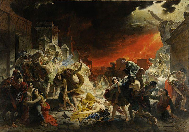 """""""Последний день Помпеи """"- самое известное живописное изображение извержения вулкана Везувий."""