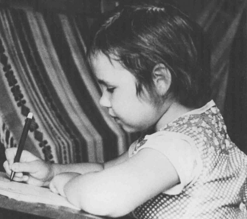 Саша в возрасте шести лет (1983 год)