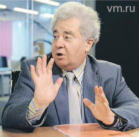 Ректор РГГУ Ефим Пивовар в телестудии «ВМ»