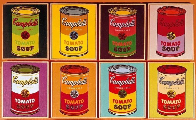 an analysis of the work art campbells soup cans by andy warhol