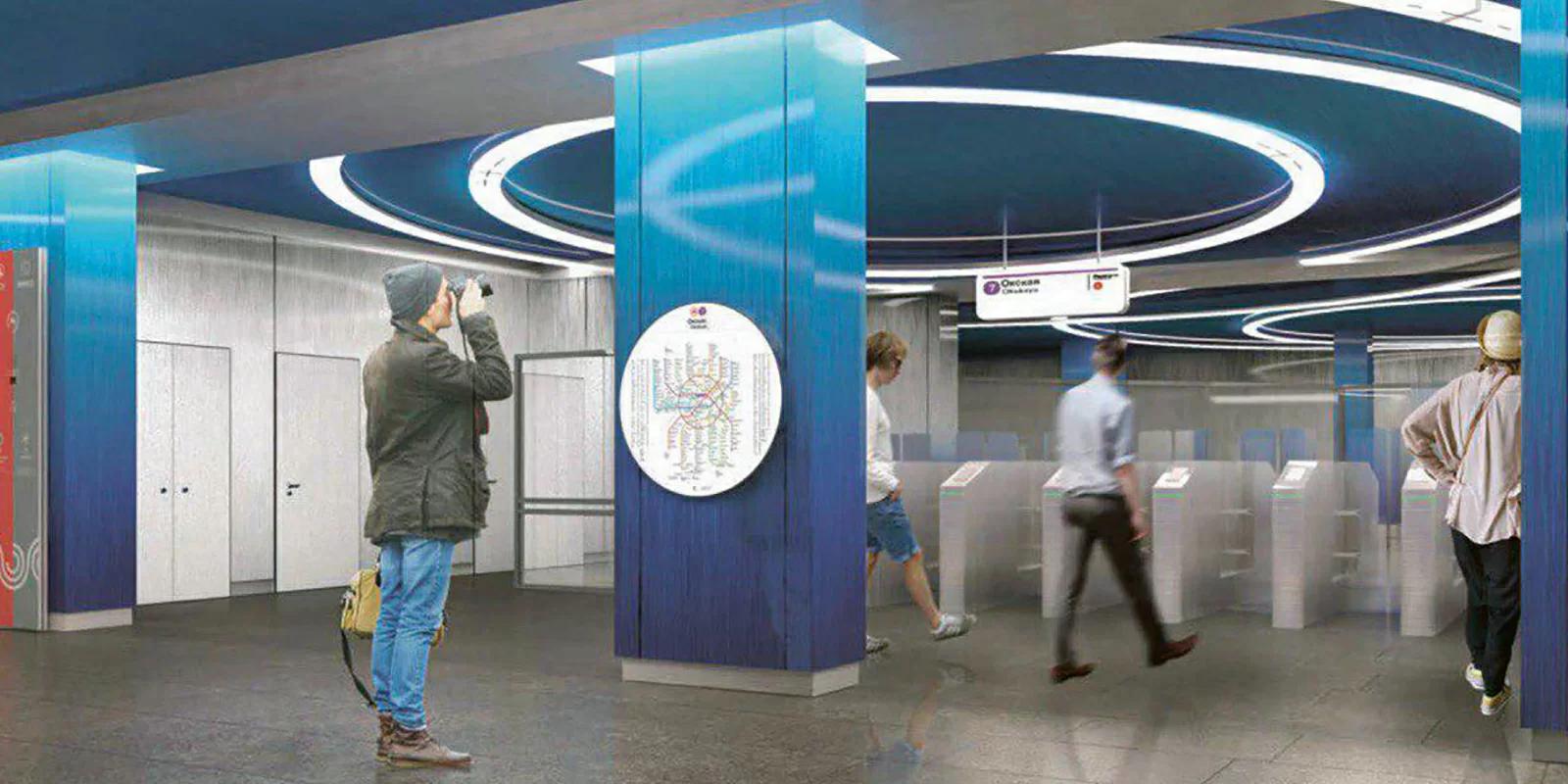 Станция «Окская» возводится на пересечении Рязанского проспекта с Окской улицей / Предоставлено пресс-службой