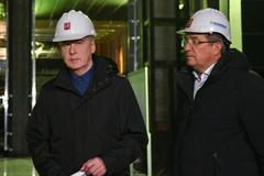 На фото: (слева направо) мэр Москвы Сергей Собянин и генеральный директор АО «Мосинжпроект» Марс Газизуллин