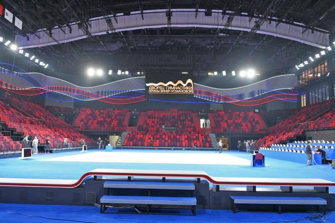 Главная арена Дворца гимнастики отвечает всем требованиям и стандартам мирового уровня / Владимир Новиков, «Вечерняя Москва»