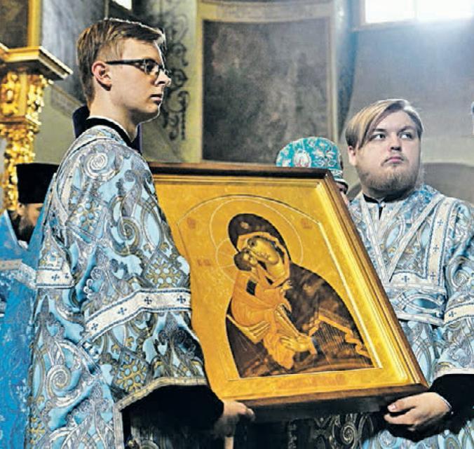 В честь праздника икону Божией Матери Донской привезли в Донской монастырь / Пресс-служба Святейшего Патриарха Московского и всея Руси