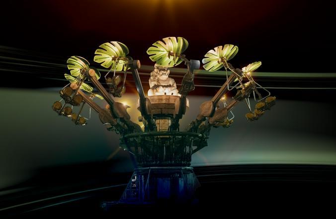 «Город обезьян» — аттракцион, который подойдет детям ростом от 120 сантиметров и выше / Предоставлено пресс-службой проекта парк «Остров мечты»