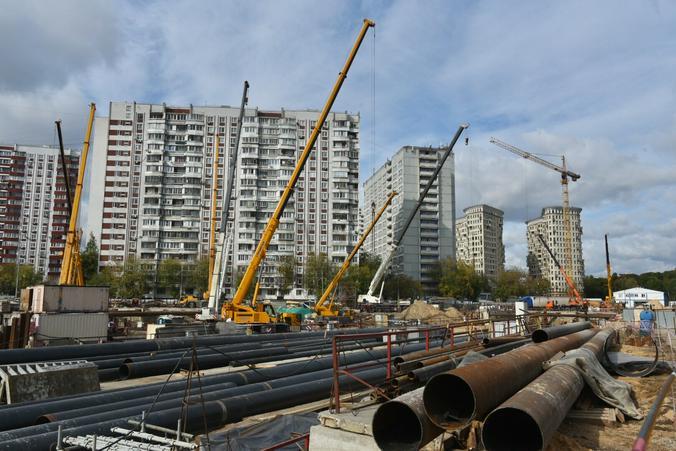 Строительство станции метро «Лефортово» БКЛ / Владимир Новиков, «Вечерняя Москва»