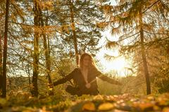 Золотая осень в Москве. На фото Анастасия Мальцева