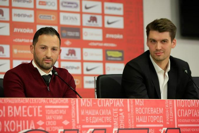 На фото — главный тренер «Спартака» Доменико Тедеско (слева) и генеральный директор клуба Томас Цорн