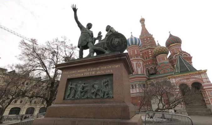 Памятник Минину и Пожарскому / Скриншот видео с YouTube