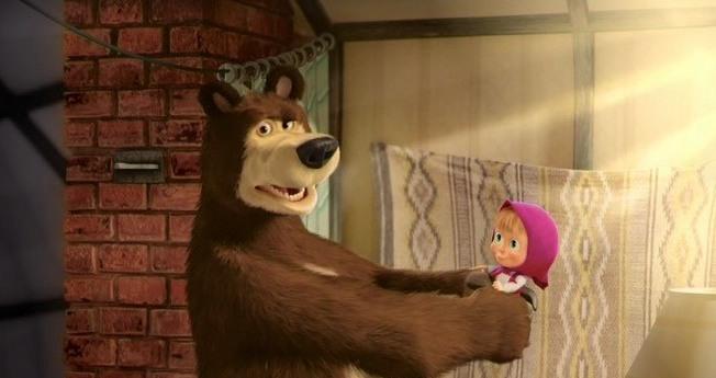 Следить за приключениями персонажей мультфильма «Маша и Медведь» можно дважды в месяц в кинотеатрах / Кадр из мультфильма