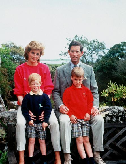 Принц Чарльз, принцесса Диана и их сыновья Уильям и Гарри, 1982 год / PA Photos/TASS