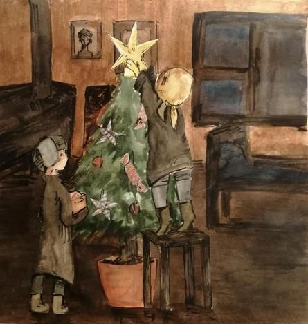 Одна из работ, которая станет новогодней открыткой / предоставлено пресс-службой Музея Победы
