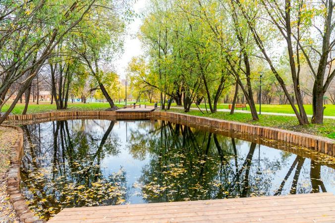 Благоустройство пруда в парке  / сайт Сергея Собянина (sobyanin.ru)