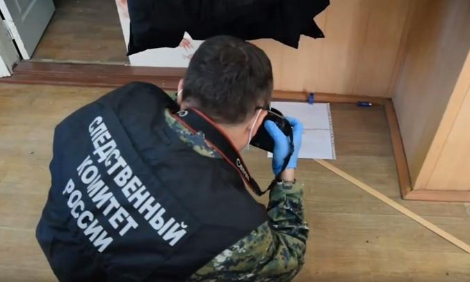 Работа следователей СК России в колледже в Благовещенске / Скриншот видео на Youtube-канале Следственного комитета РФ
