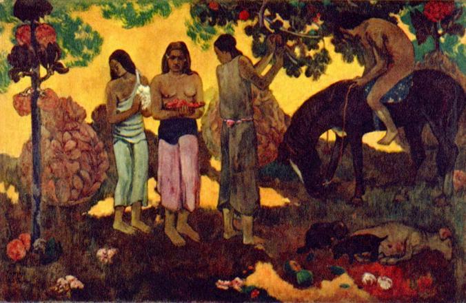 Сбор плодов, Поль Гоген (1899)  / Сбор плодов, Поль Гоген (1899)