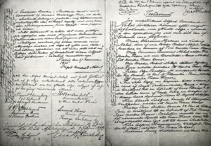 Завещание Нобеля / Wikipedia / Общественное достояние