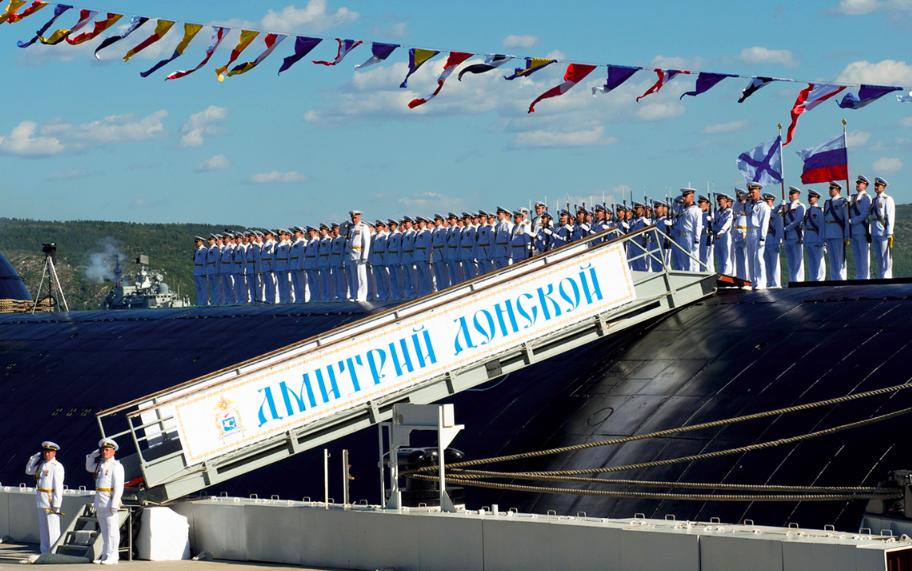 Тренировка парада кораблей, посвященного Дню Военно-морского флота России, в Кольском заливе / Сайт Минобороны РФ