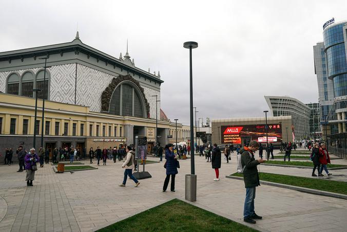 Площадь Киевского вокзала после начала работ по благоустройству / www.sobyanin.ru / Сайт Сергея Собянина