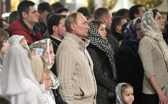 Президент России Владимир Путин посетил богослужение в Спасо-Преображенском соборе Санкт-Петербурга / Официальный сайт Кремля
