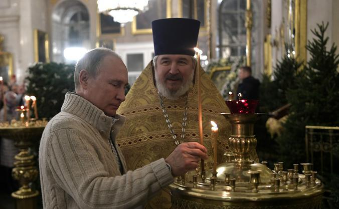 Путин отметил роль Русской православной церкви в формировании и укреплении нравственных основ общества / kremlin.ru / Официальный сайт Кремля