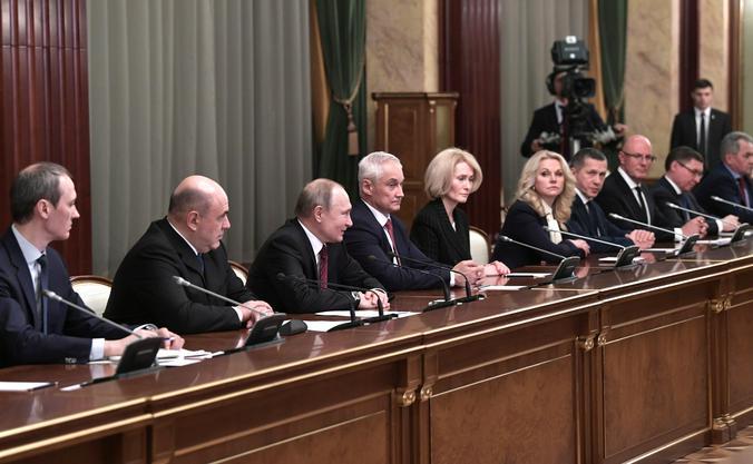 Встреча президента РФ Владимира Путина с новым правительством / Официальный сайт Кремля