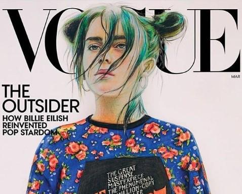 Мартовская обложка Vogue с Билли Айлиш / @kovtunnnastya / Фотография из официального аккаунта Анастасии Ковтун в Instagram