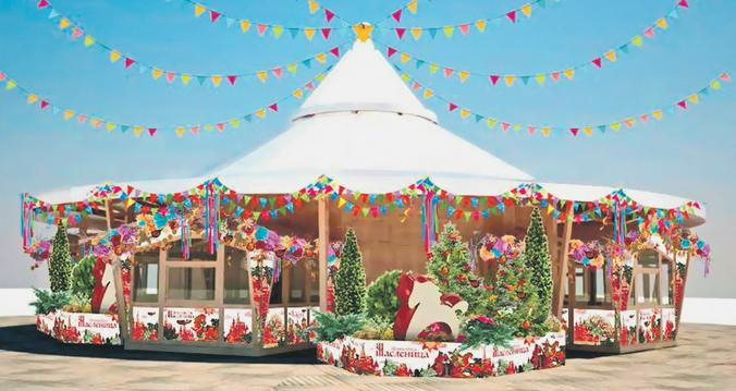 Праздничный шатер, который будет установлен на Манежной площади