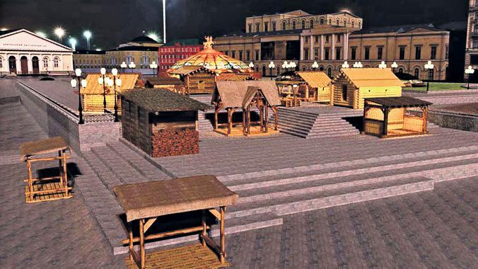Все декорации комплекса «Деревенька» изготовлены из натуральных материалов и украсят площадки фестиваля