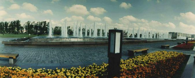 Аллея фонтанов на Поклонной горе / В.Х. Мариньо. Москва. 28.08.2001 г. Главархив Москвы