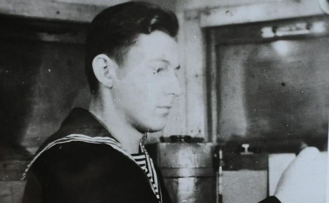 Виктор Харчев в 1947 году был уже рулевым родного эсминца «Баку»  / Фото из личного архива