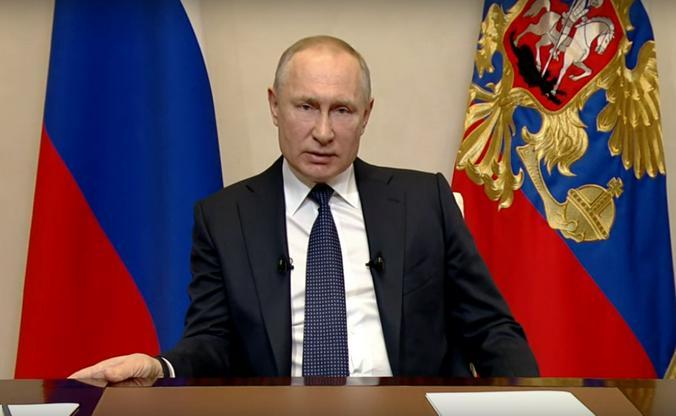 Президент Владимир Путин обратился к нации / Скриншот видео YouTube-канала «RT на русском»