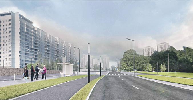 Благоустройство одной из ключевых магистралей столицы завершится уже в этом году / Пресс-служба Комплекса градостроительной политики и строительства Москвы