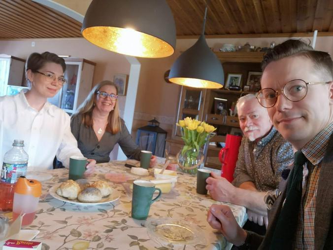 Бобби Свицер с женой и ее родителями / Free / Предоставлено Бобби Свицером