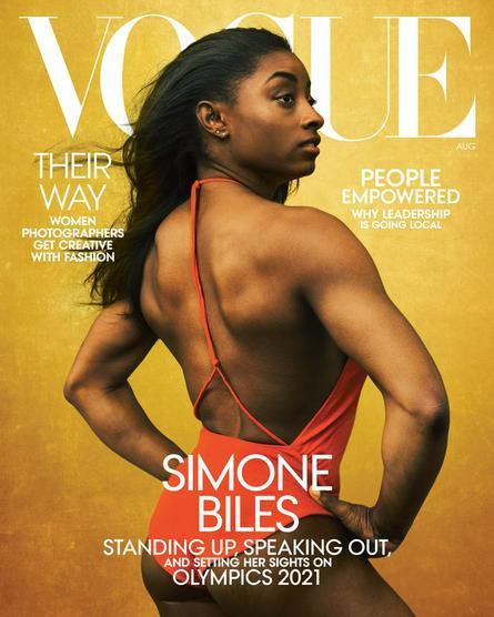 Журнал Vogue разместил на своей обложке фотографию известной гимнастки Симоны Байлз / twitter.com/voguemagazine