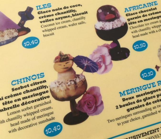 Ресторан «Голубой цыпленок» был вынужден убрать из своей карты мороженое «Африканка» и «Китаец» / Twitter / @brainmagazine