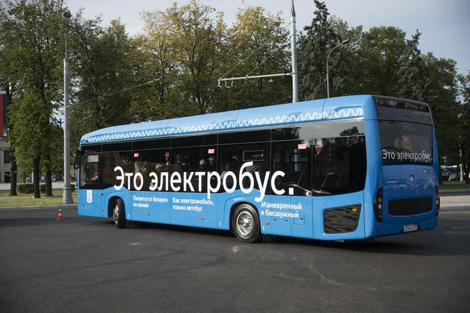 """Сотню новых электробусов получили в Москве. Фото: Владимир Новиков, """"Вечерняя Москва"""""""