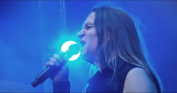 Кадр из клипа «Выше» группы «Кипелов»