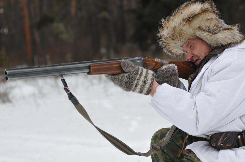 картинки мужчина зимой на охоте