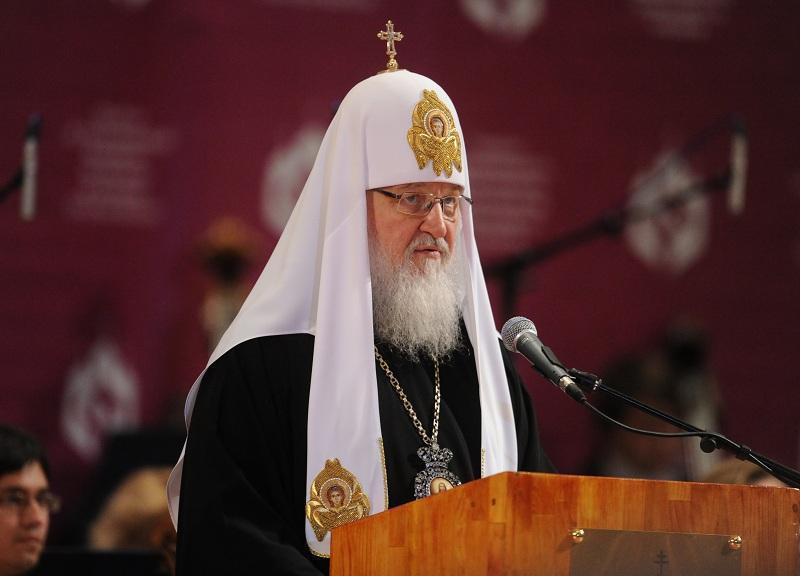Возглавил торжественную церемонию Святейший Патриарх Московский и всея Руси Кирилл