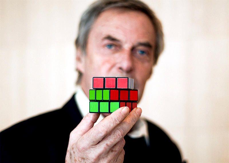 профессор рубик фото с кубиком спинных