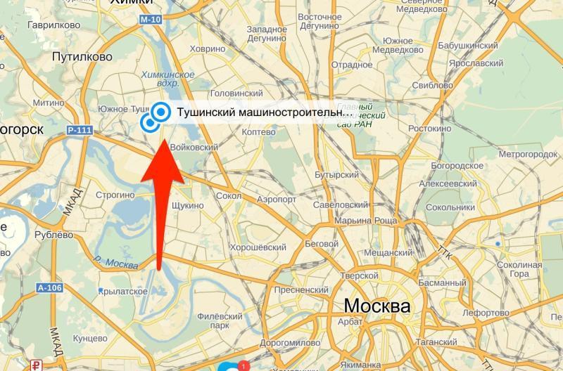 Пожар произошел на северо-западе столицы. / Яндекс.Карты