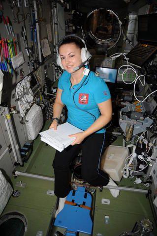 2014 год. Елена на борту Международной космической станции (МКС) / Из архива