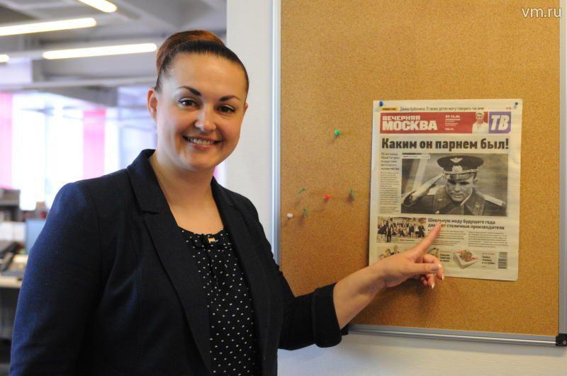 23 мая 2016 года летчик-космонавт Елена Серова в редакции «ВМ» / Игорь Ивандиков
