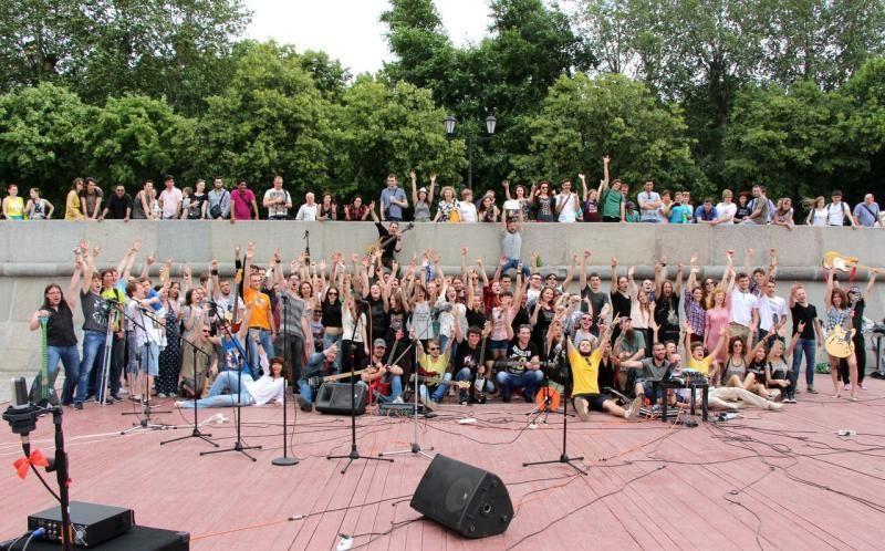 Неменее 200 музыкантов примут участие музыкальном флешмобе вмосковском Парке Горького