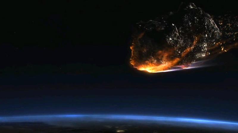 """Астероид едва не коснулся атмосферы Земли. / кадр из фильма """"Астероид: последний час планеты"""""""