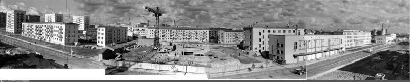 1958 год. Первые хрущевки начали строить на улице Гримау / Архив электронных и аудиовизуальных документов Москвы